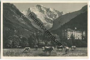 Interlaken - Hotel Jungfraublick mit Jungfrau - Foto-Ansichtskarte 20er Jahre - Edition Photoglob Zürich