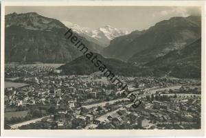 Interlaken und Unterseen - Foto-Ansichtskarte 20er Jahre - Edition Photoglob Zürich