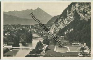 Interlaken - Strandbad - Foto-Ansichtskarte 20er Jahre - Verlag G. D'Aguanno-Zinsli Interlaken