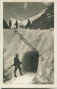 Oberer Grindelwaldgletscher - Eingang zur Eisgrotte - Foto-Ansichtskarte 20er Jahre - Edition Photoglob Zürich