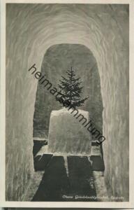 Oberer Grindelwaldgletscher - Eisgrotte - Foto-Ansichtskarte 20er Jahre - Verlag Schild-Bichsel Brienz