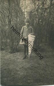 Mädchen mit Schultüte - Foto-Ansichtskarte