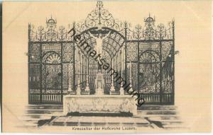 Kreuzaltar der Hofkirche Luzern - Verlag & Alleinverkauf Ant. Achermann Stifts-Sacristan Luzern ca. 1905