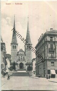 Luzern - Hofkirche - Verlag E. A. Souvenirs Suisses Luzern ca. 1905