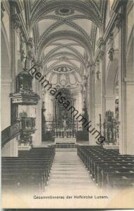 Gesamtinneres der Hofkirche Luzern - Verlag & Alleinverkauf Ant. Achermann Stifts-Sacristan Luzern ca. 1905