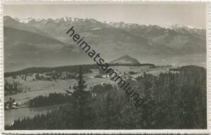 Vue sur Crans le plateau du Golf et les alpes valaisannes - Foto-AK - Edition J, Deprez Montana