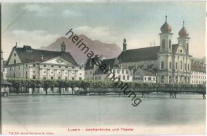 Luzern - Jesuitenkirche und Theater - Edition Photoglob Zürich