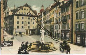 Luzern Weinmarkt - Verlag Emil Goetz Luzern ca. 1900