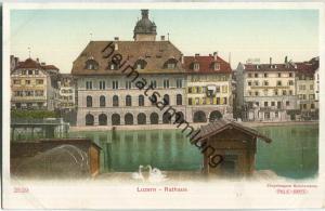Luzern - Rathaus - Schutzmarke Preis-Karte ca. 1900
