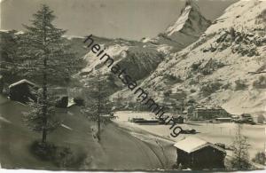 Zermatt und Matterhorn - Foto-AK - Edition Perren-Barberini Zermatt gel. 1939