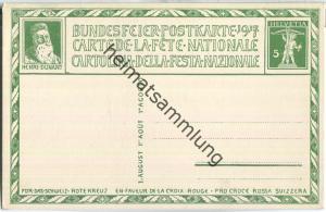 Bundesfeier-Postkarte 1917 - 5 Cts Boscovits Wohltätigkeit - Zugunsten des Schweizerischen Roten Kreuzes