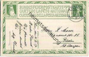 Bundesfeier-Postkarte 1917 - 5 Cts Cardinaux Barmherziger Samariter - Zugunsten des Schweizerischen Roten Kreuzes