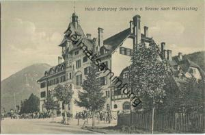 Hotel Erzherzog Johann von der Strasse nach Mürzzuschlag um 1910 - Verlag Würthle & Sohn Salzburg