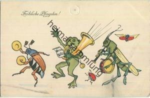 Fröhliche Pfingsten - Maikäfer - Frosch Heuschrecke - Verlag H.H.i.W.