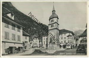 Altdorf - Dorfplatz - Strassenbahn - Foto-Ansichtskarte - Verlag Photoglob-Wehrli & Vouga Zürich