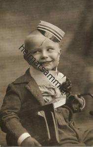 Studentica - Studentika - Kind als Student verkleidet - Foto-AK gel. 1911