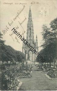 Edinburgh - Scott Monument gel. 1906
