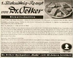 10 x Original-Werbung/ Anzeige 1909 bis 1941 - REZEPTE DR.OETKER - BIELEFELD - Größe unterschiedlich