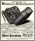 10 x Original-Werbung/ Anzeige 1897 bis 1929 - VERSANDHANDEL ALBERT ROSENHAIN - BERLIN - Größe unterschiedlich