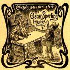 10 x Original-Werbung/ Anzeige 1905 - CLICHÉS / STEMPEL / CONTOR- SCHREIBZUBEHÖR OSCAR SPERLING - LEIPZIG - VERSCH GRÖSSEN - 45 mm BREITE