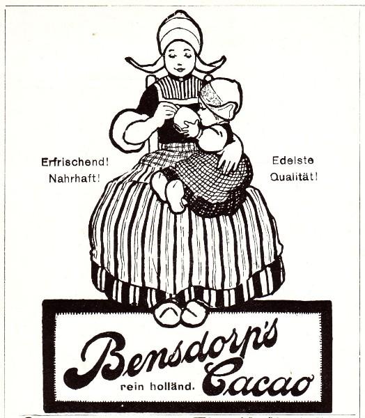 Original-Werbung/ Anzeige 1907 - BENSDORP''''S REINER HOLLÄNDISCHER CACAO - ca. 90 x 110 mm