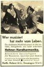 10 x Original-Werbung/ Anzeige 1928 bis 1958 - HOHNER MUSIKINSTRUMENTE - TROSSINGEN - UNTERSCHIEDLICHE GRÖSSEN