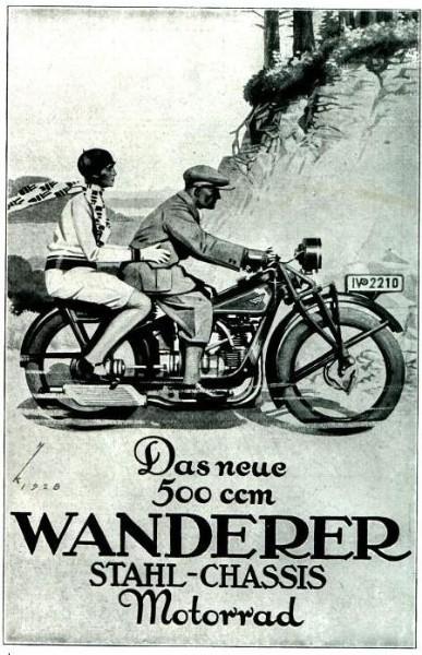 10 x Original-Werbung/ Anzeige 1907 bis 1936 - WANDERER MOTORRÄDER / SCHÖNAU - CHEMNITZ - Größe unterschiedlich