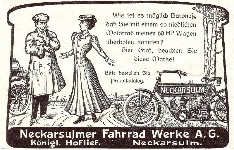 10 x Original-Werbung/ Anzeige 1905 bis 1936 - NSU MOTORRÄDER - NECKARSULM - Größe unterschiedlich