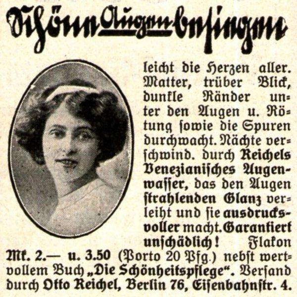 10 x Original-Werbung/ Anzeige 1901 bis 1912 - OTTO REICHEL / BERLIN - Größe unterschiedlich / BREITE MEIST 45 mm