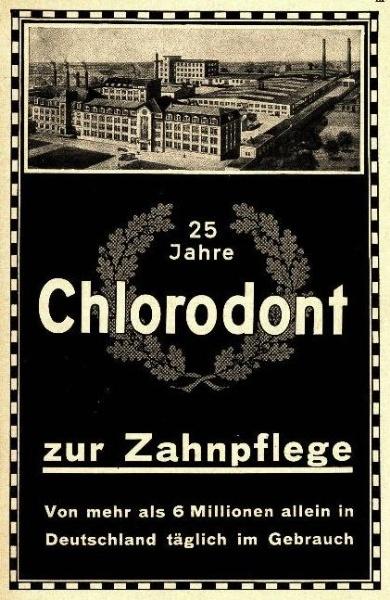 10 x Original-Werbung/ Anzeige 1932 bis 1937 - CHLORODONT ZAHNPASTA - MEIST 160 x 230 mm