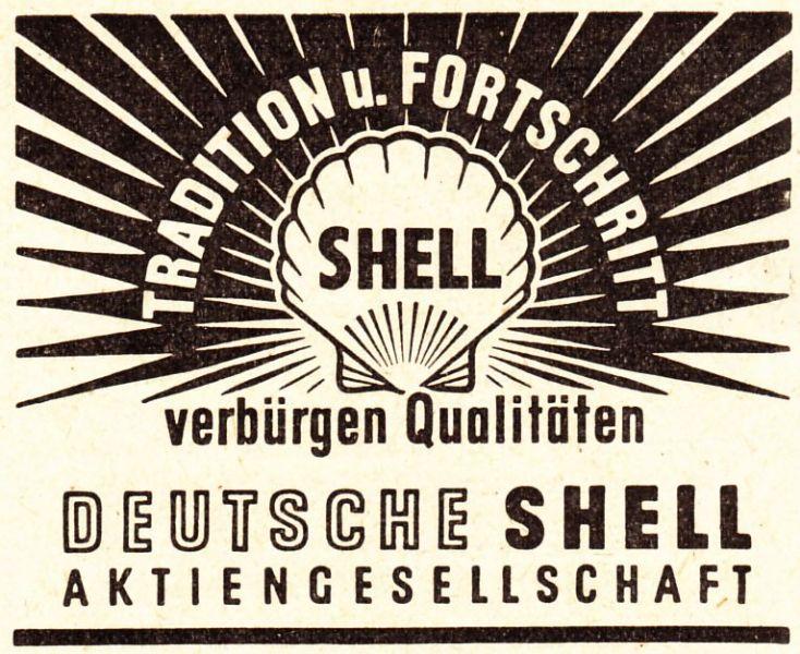 10 x Original-Werbung/ Anzeige 1947 bis 1969 - DEUTSCHE SHELL - Größe unterschiedlich