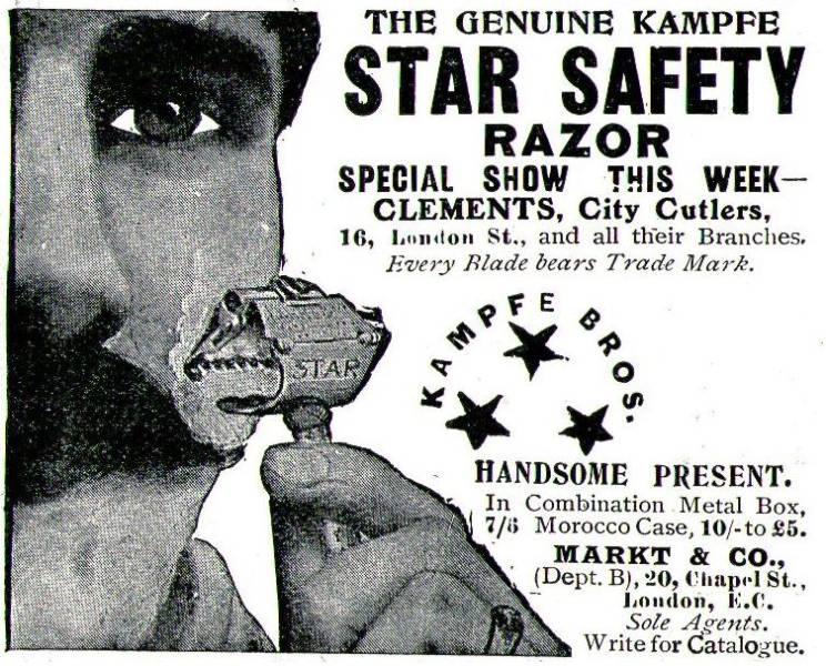 10 x Original-Werbung/ Anzeige 1901 bis 1913 - RASUR / RASIERMESSER / RASIERER - Größe unterschiedlich