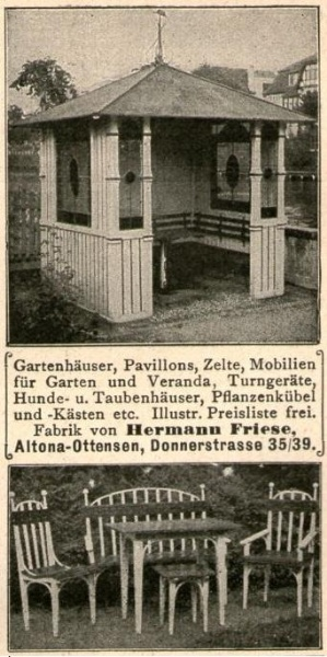 10 x Original-Werbung/ Anzeige 1901 bis 1928 - GARTENMÖBEL - Größe unterschiedlich / BREITE MEIST 45 - 90 mm