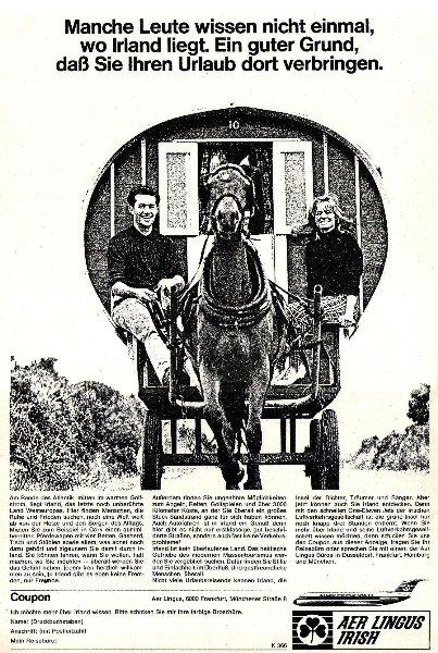 Original-Werbung/ ganzseitige Anzeige 1966 - IRLAND / IRELAND - ca. 235 x 320 mm