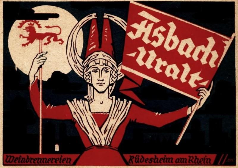 Original-Werbung/ Anzeige 1926 - ASBACH URALT - ca. 135 X 90 mm