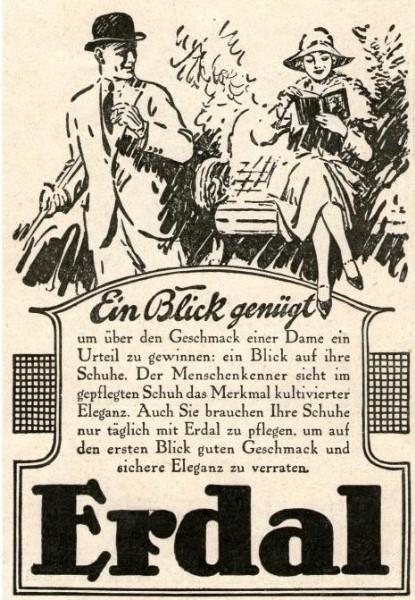 Original-Werbung/ Anzeige 1926 : ERDAL ca. 90 x 135 mm