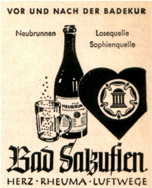 Original-Werbung/ Anzeige 1940 - BAD SALZUFLEN - ca. 45 x 60 mm