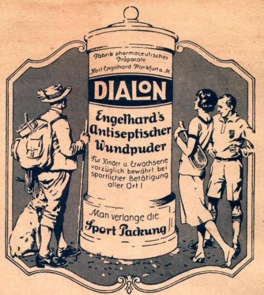 Original-Werbung/ Anzeige 1926 - DIALON - ca. 110 X 120 mm