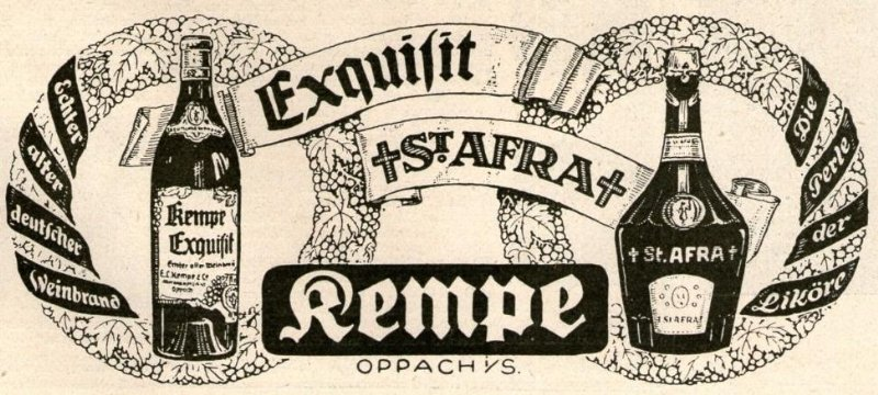 Original-Werbung/ Anzeige 1926 - KEMPE EXQUISIT / ST.AFRA - ca. 120 x 60 mm
