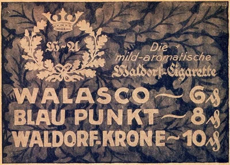 Original-Werbung/ Anzeige 1925 - WALDORF - ASTORIA CIGARETTE - ca. 140 x 110 mm