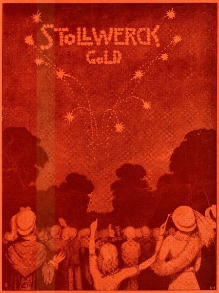 Original-Werbung/ Anzeige 1912 : STOLLWERCK GOLD SCHOKOLADE - ca. 180 X 240 mm