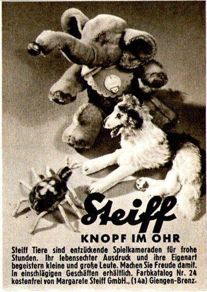 Original-Werbung/ Anzeige 1961 - STEIFF - KNOPF IM OHR / GIENGEN AN DER BRENZ - ca. 60 x 80 mm