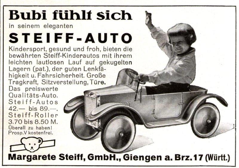 Original-Werbung/ Anzeige 1931 - STEIFF AUTO / GIENGEN AN DER BRENZ - ca. 100 x 75 mm