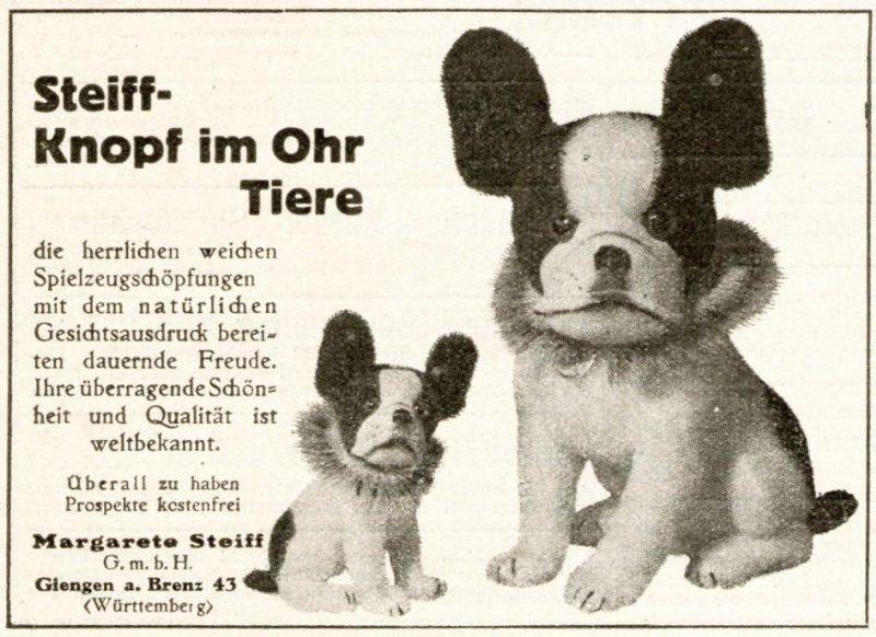 Original-Werbung/ Anzeige 1928 - STEIFF-KNOPF IM OHR - ca. 75 x 105 mm