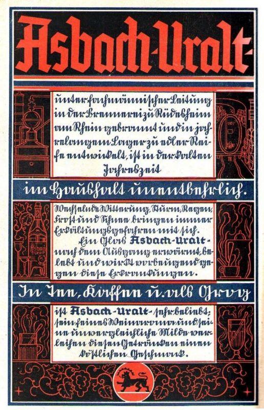 Original-Werbung/ Anzeige 1933 - ASBACH URALT - ca. 140 x 220 mm