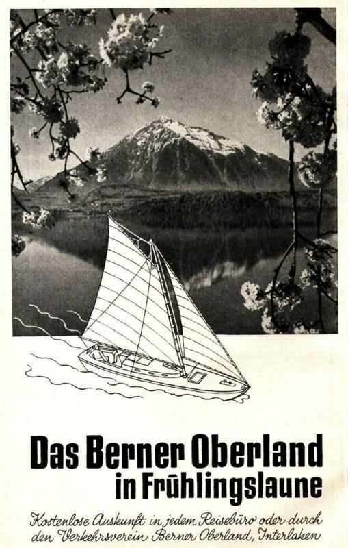 Original-Werbung/ Anzeige 1933 - BERNER OBERLAND (SCHWEIZ) - ca. 130 x 220 mm