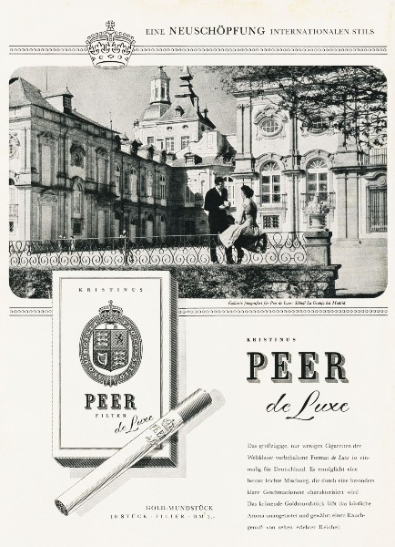 9 x Original-Werbung/ Anzeige 1959 - PEER DE LUXE CIGARETTEN  GANZE SEITEN -  je 190 x 250 mm