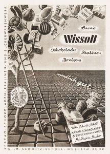 10 x Original-Werbung/ Anzeige 1956 bis 1959 -WISSOLL SCHOKOLADE / KAKAO / SCHMITZ-SCHOLL MÜHLHEIM-RUHR - je ca. 125 x 160 mm