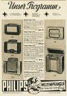 10 x Original-Werbung/ Anzeigen 1938 - RADIOS / GANZSEITEN - ca. 190 x 250 mm