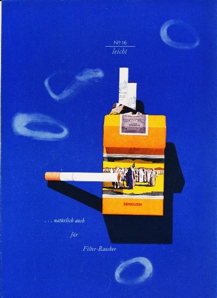 10 x Original-Werbung / Anzeigen 1956 / 1959 - SENOUSSI CIGARETTEN - GANZSEITEN
